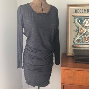 Athleta Ruched Long Sleeved Dress